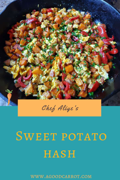 sweet potato hash, quick breakfast dishes, what pairs well with sweet potatoes