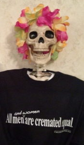 Lola in cremation T-shirt