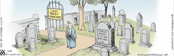 Cartoon - the Last Tweet Cemetery