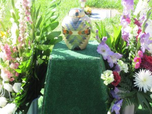 Urn and Flowers for Marilyn Hardy Hazlewood