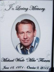 Mike Flowers memorial program