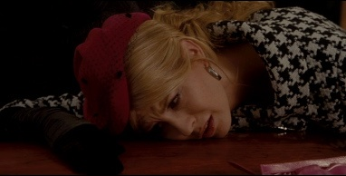 Ophelia (Jenna Elfman) mourns over Henry's casket