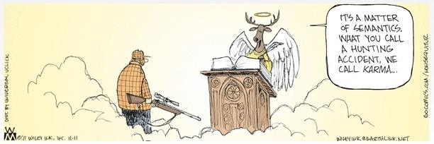 Non Sequitur Karma Cartoon