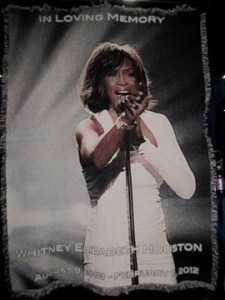 Whitney Houston Tribute Blanket