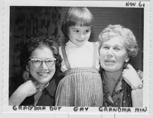 1961 Gail and Grandmas