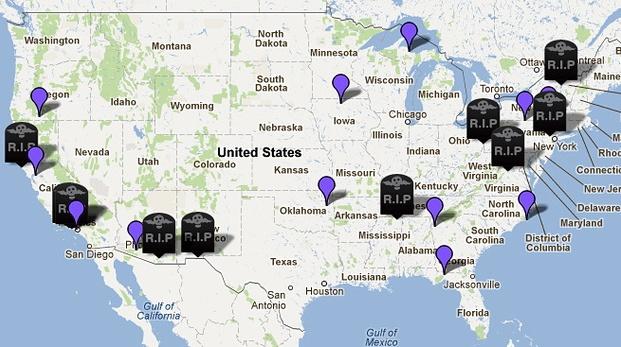 NPR Dead Stop Map