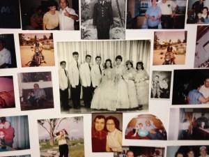 Muller family photo board