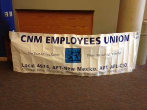 CNM Employees Union banner