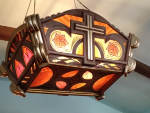 Light Fixture with Cross