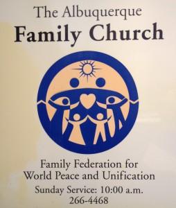 ABQ family church sign