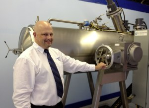 Jeff Edwards and Alkaline Hydrolysis machine