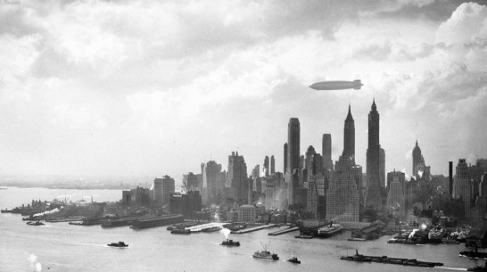 The Hindenburg over NYC