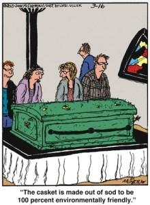 Green Casket Cartooon