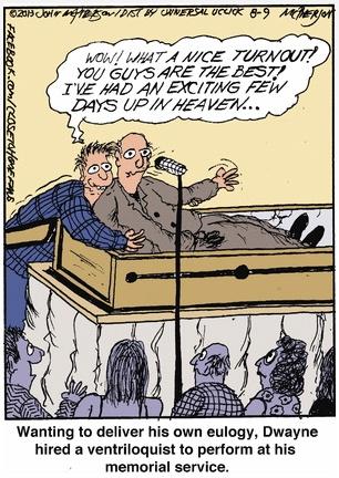 Close to Home Ventriloquist Cartoon