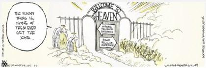 Non Sequitur Gates of Heaven Cartoon