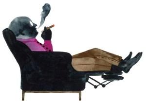Dad in recliner illustration