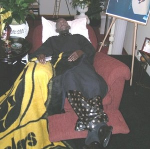 Steelers fan in lounger