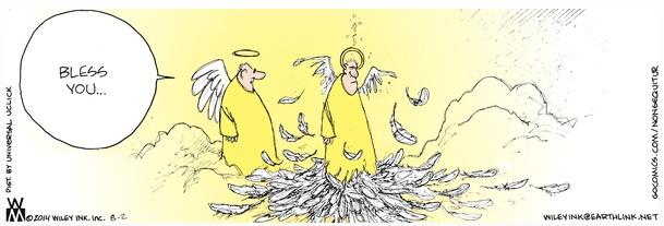 Non Sequitur Angel Sneeze Cartoon