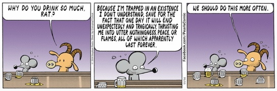 Pearls Before Swine drinking at the bar