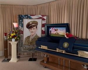 Gene Allen Stewart cap panel and tribute blanket