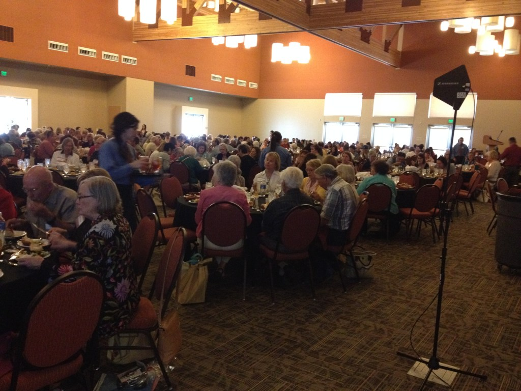 The luncheon Death Cafe at the Las Cruces Convention Center - 400 people!