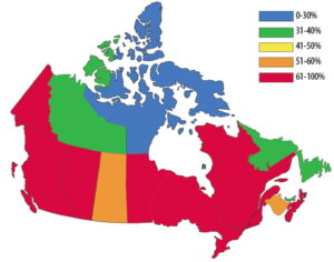 Canada Cremation Percentages 2014