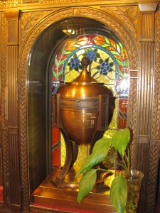 Chalice Urn and Stained Glass