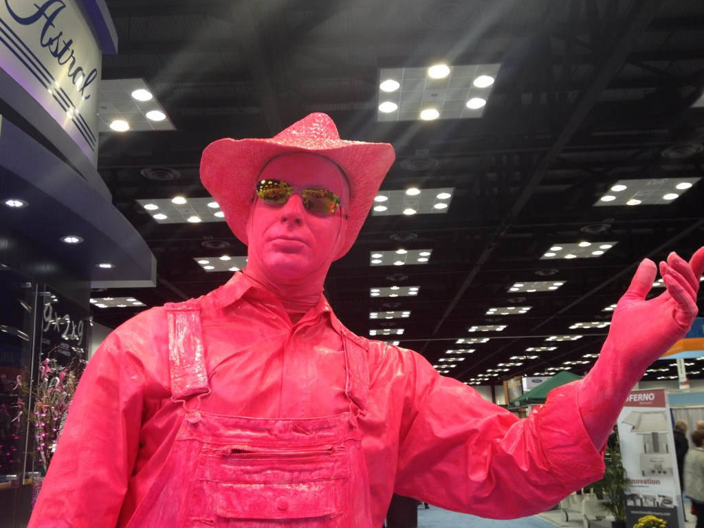 Astral Living Statue in Pink