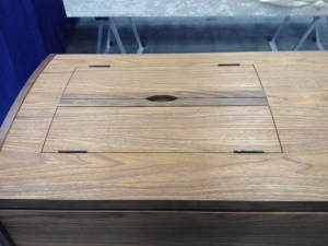 Walnut Japanese casket