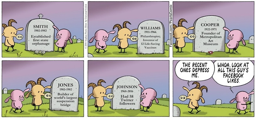 Pearls Before Swine headstones