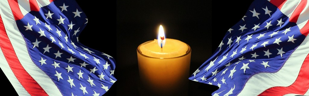 candle flag banner