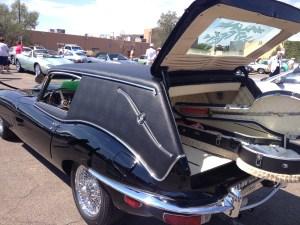 Jaguar hearse hatch and banjo case