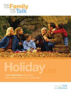 FAMIC holiday guide cover