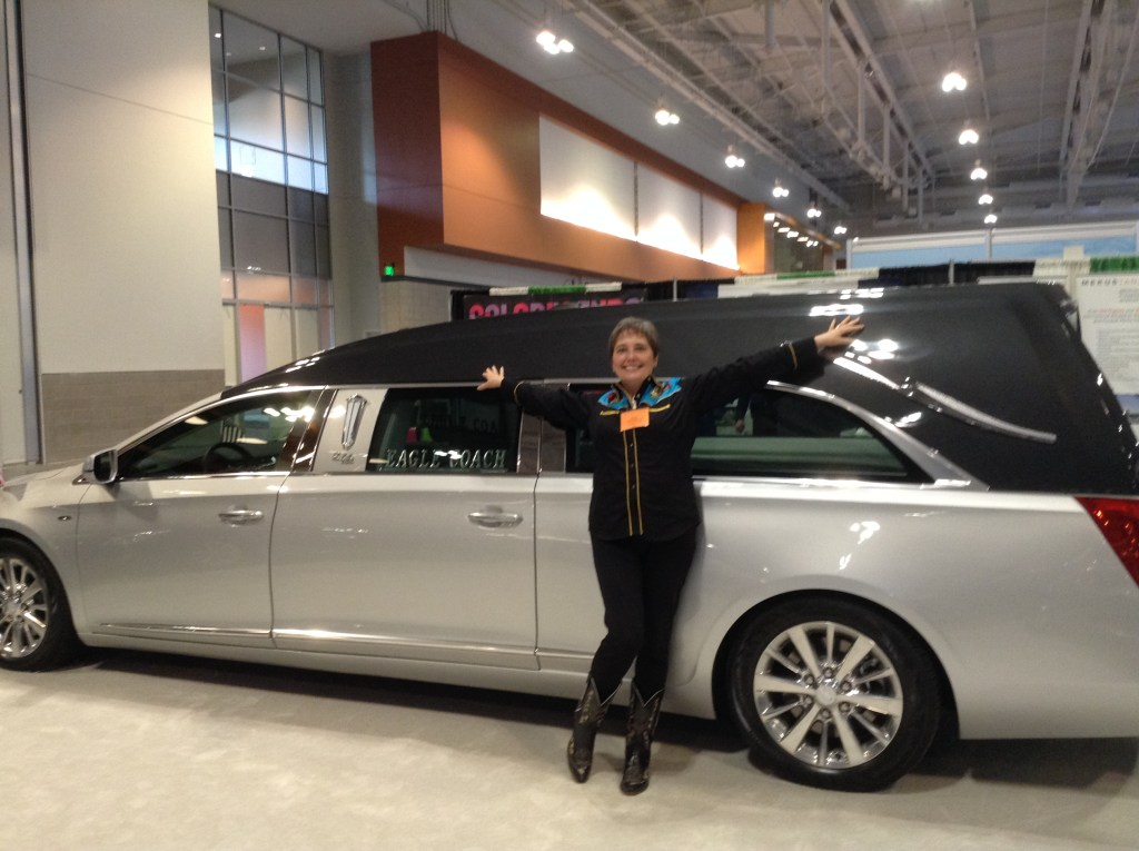 Gail and hearse