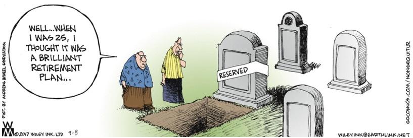 Non Sequitur Cemetery Plot Planning