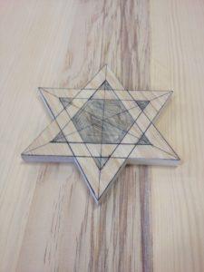 Jewish star on casket