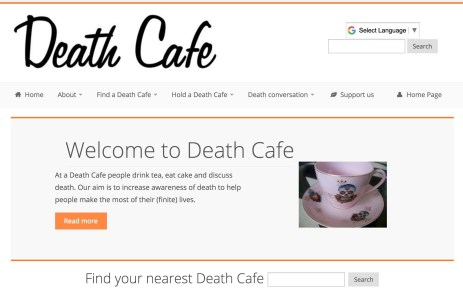 Death Cafe home page