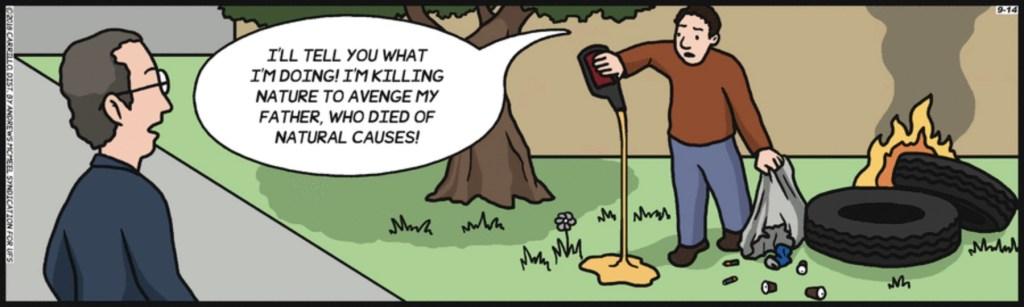 F Minus natural causes cartoon