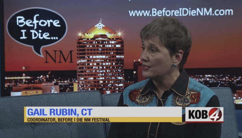Gail Rubin on KOB-TV