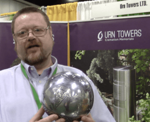 Stephen Power with Celtic Urn