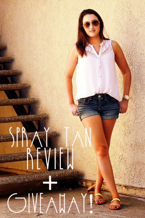 Spray Tan Review + GIVEAWAY