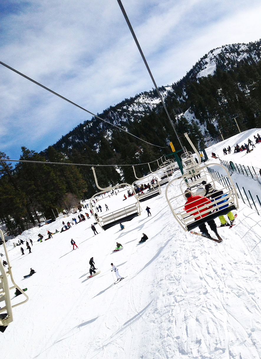Winter fun in Big Bear, Calif.- Bear Mountain Slopes