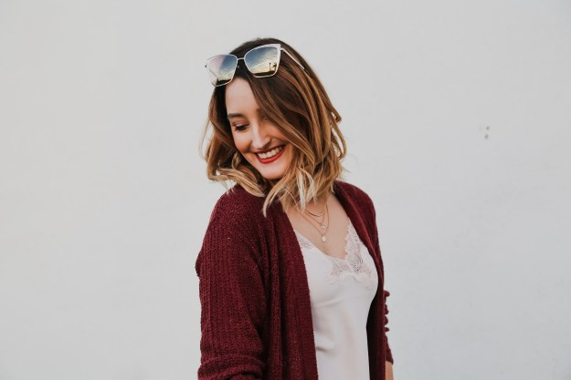 Oxblood Cardigan
