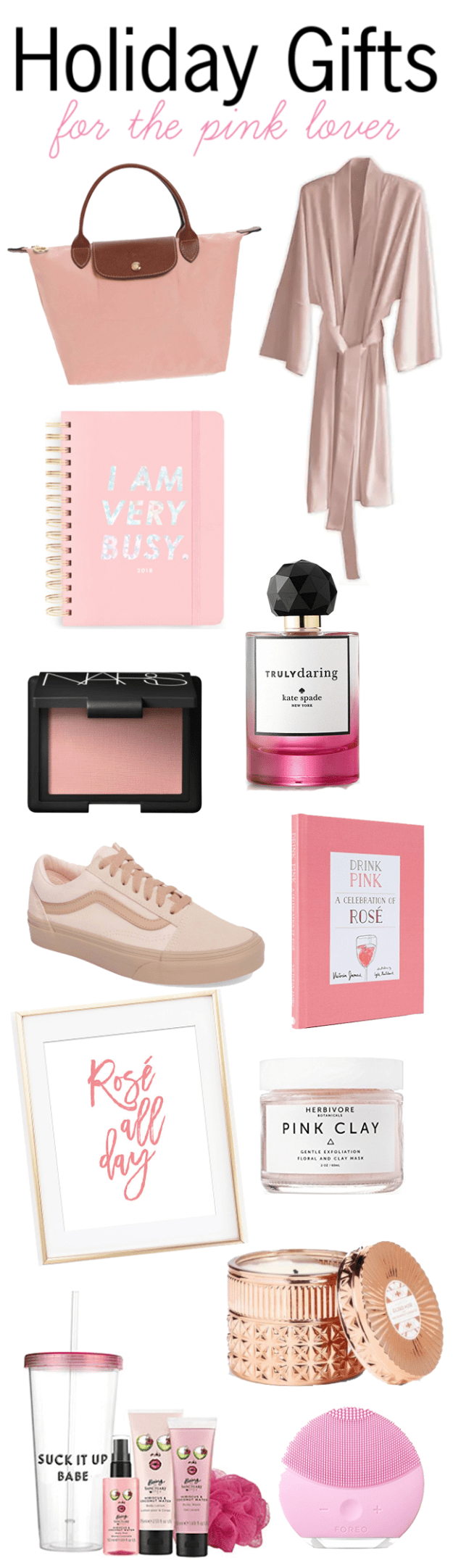 Holiday Gift Guide: Gifts for the Pink Lover