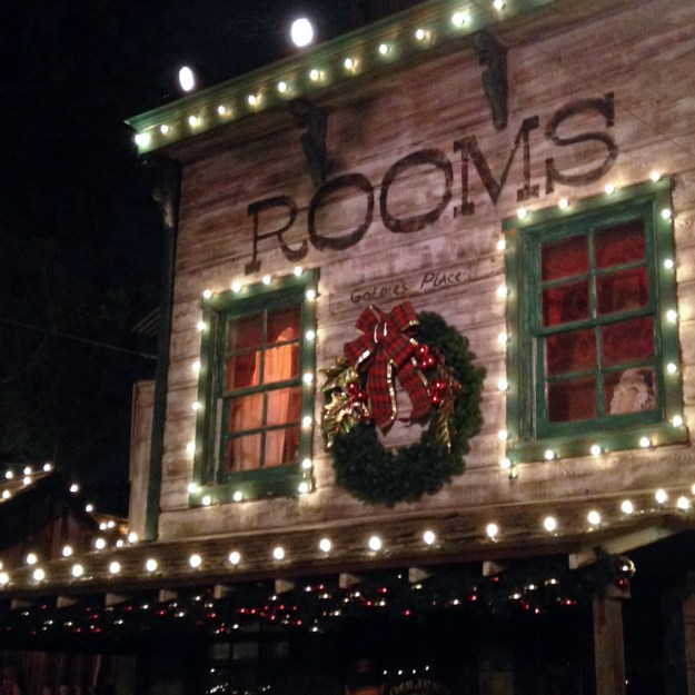 Ghost Town decorations at Knott's Merry Farm