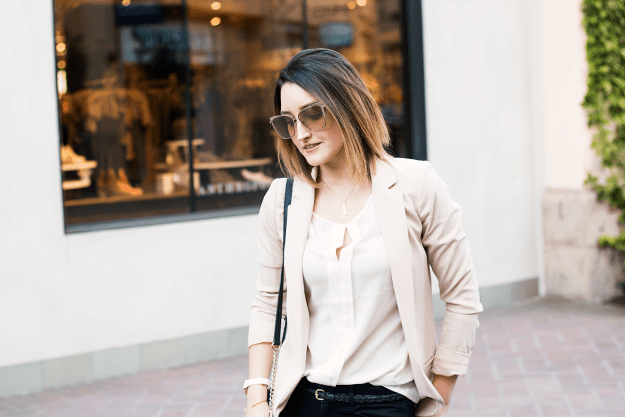 How to: Style a Blush Blazer | A Good Hue