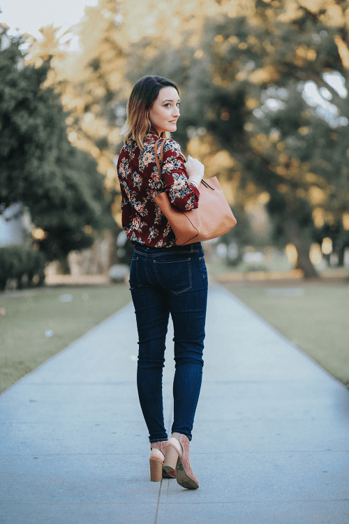 Pre- Spring Outfit with Floral Vibes