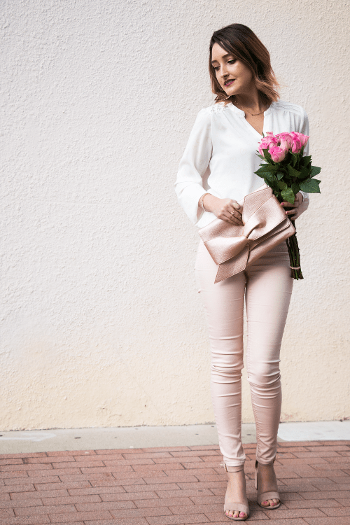 Crushin' On Blush: Affordable Valentine's Day Outfit