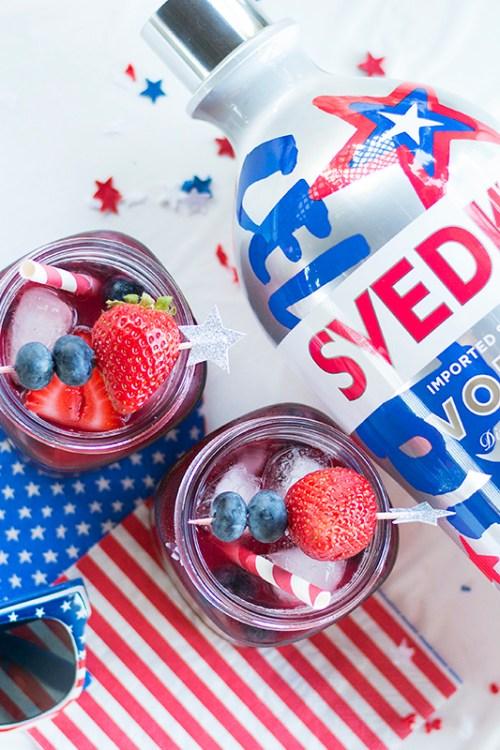 Fourth of July Very Berry Vodka Lemonade