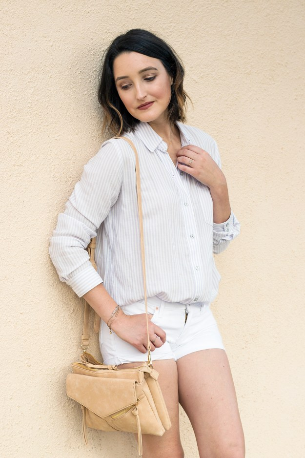 Summer Style: White Shorts & Stripes